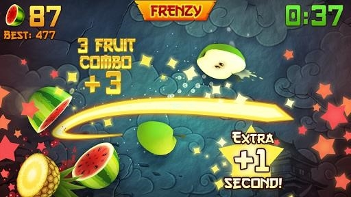 Скриншот Fruit Ninja для Андроид