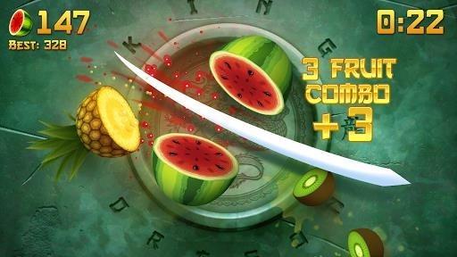 Приложение Fruit Ninja для Андроид