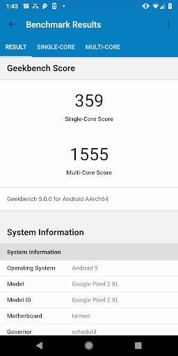 Скриншот Geekbench 4 для Андроид