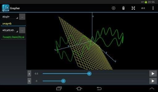 Приложение Grapher Pro 3D для Андроид