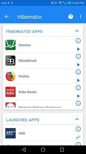 Скриншот Hibernator для Андроид