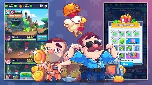 Скриншот Idle Prison Tycoon: Gold Miner Clicker Game для Андроид