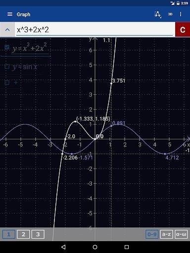 Скриншот Инженерный Калькулятор+Графики для Андроид