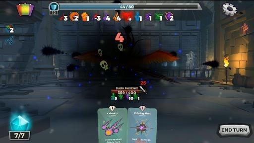 Скриншот Легенды подземелья: Карточная RPG-игра для Андроид