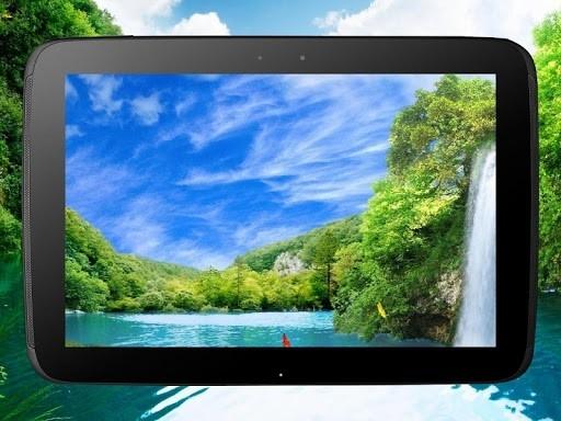 Скриншот Лесной водопад PRO живые обои для Андроид