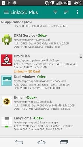 Скриншот Link2SD Plus для Андроид