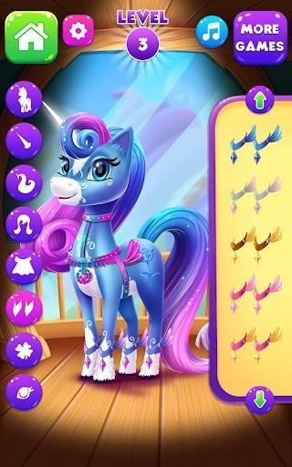 Скриншот Magical Unicorn Candy World для Андроид
