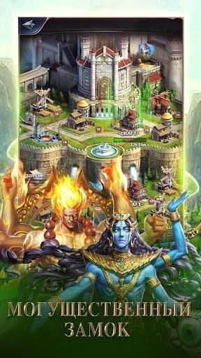 Скриншот MythWars & Puzzles: RPG «три в ряд» для Андроид