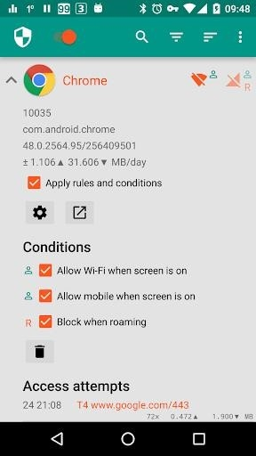Приложение NetGuard для Андроид