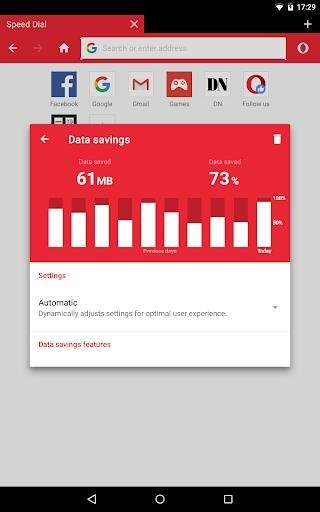 Opera Mini beta для Андроид