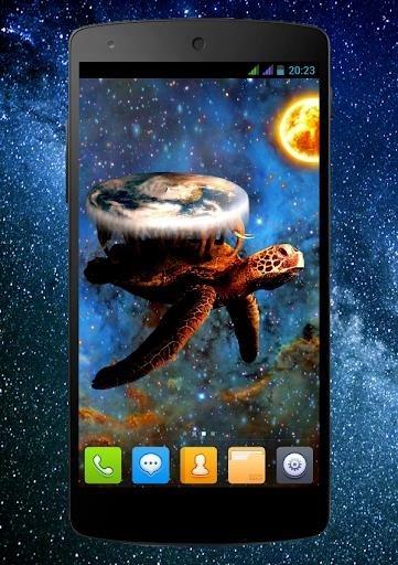 Скриншот Плоский мир PRO Живые Обои для Андроид
