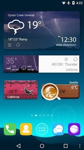 Скриншот Прогноз GO погоды & виджеты для Андроид