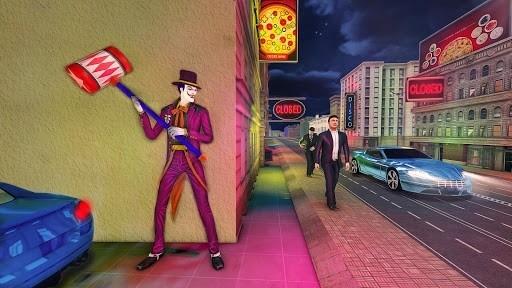 Страшные Клоун Атака Ночь город для Андроид