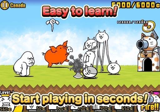 Приложение The Battle Cats для Андроид