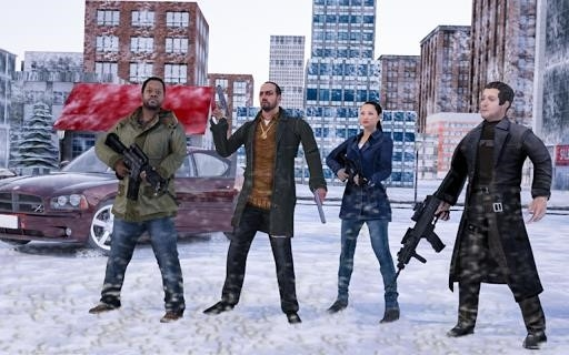 Скриншот Winter City Shooter Gangster Mafia для Андроид